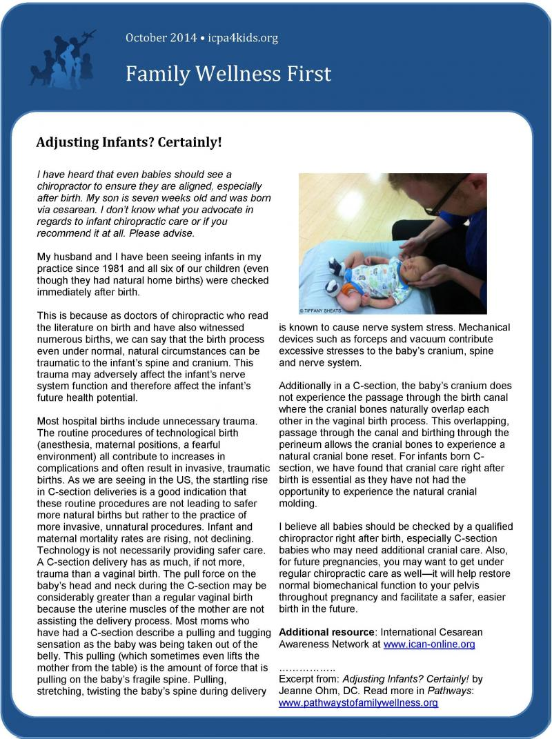 Adjusting Infant? Certainly! Page1